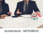real estate agent consulting... | Shutterstock . vector #687038014