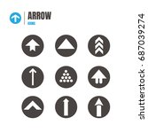 arrow icon set. illustration... | Shutterstock .eps vector #687039274