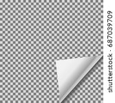 transparent foil blank sticker... | Shutterstock .eps vector #687039709