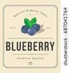 colorful blueberry jam...   Shutterstock .eps vector #687041764