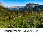 overview of mountains and wild... | Shutterstock . vector #687048244