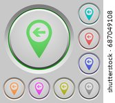 previous target gps map... | Shutterstock .eps vector #687049108