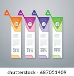 business presentation or... | Shutterstock .eps vector #687051409
