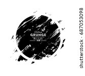 abstract grunge black brush... | Shutterstock .eps vector #687053098
