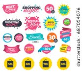 sale shopping banners. sale bag ...   Shutterstock .eps vector #687054076