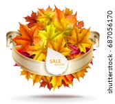 abstract autumn background.... | Shutterstock .eps vector #687056170