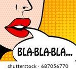 pop art retro style comic book... | Shutterstock .eps vector #687056770