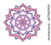 mandala. round ornament pattern.... | Shutterstock .eps vector #687060904
