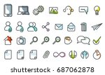 vector icons web and mobile.... | Shutterstock .eps vector #687062878