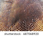 the photo shows beehive honey... | Shutterstock . vector #687068920