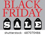 black friday sale abstract... | Shutterstock .eps vector #687070486