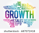 growth word cloud collage ... | Shutterstock .eps vector #687072418