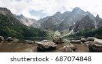 beautiful great panoramic view... | Shutterstock . vector #687074848