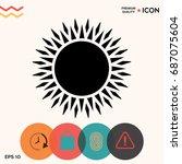 sun icon | Shutterstock .eps vector #687075604