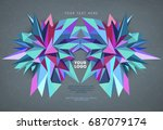 abstract geometric asymmetric... | Shutterstock .eps vector #687079174