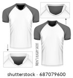 rugby jersey with different... | Shutterstock .eps vector #687079600