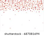 colorful background with heart... | Shutterstock .eps vector #687081694