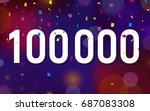 congratulations 100k followers  ... | Shutterstock .eps vector #687083308