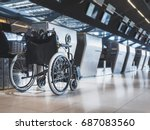 wheelchair prepare for... | Shutterstock . vector #687083560