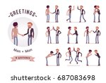 ready to use character set.... | Shutterstock .eps vector #687083698