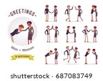 ready to use character set.... | Shutterstock .eps vector #687083749