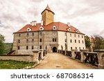 famous veveri castle  moravia ... | Shutterstock . vector #687086314
