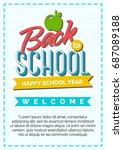 back to school card with color...   Shutterstock .eps vector #687089188