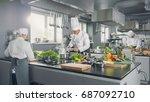 big and glamorous restaurant... | Shutterstock . vector #687092710