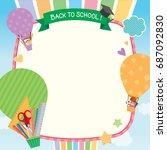 illustration vector of back to... | Shutterstock .eps vector #687092830