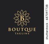 boutique logo | Shutterstock .eps vector #687097738