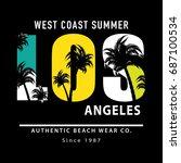 t shirt graphics   vector print ... | Shutterstock .eps vector #687100534