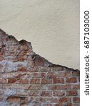 old brick wall in a background... | Shutterstock . vector #687103000
