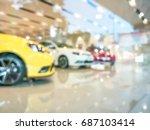 blurred  showroom car   for