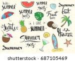 summer set of vector... | Shutterstock .eps vector #687105469