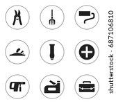 set of 9 editable instrument...