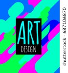 art abstract hipster poster ... | Shutterstock .eps vector #687106870