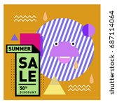 summer sale memphis style web... | Shutterstock .eps vector #687114064
