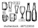 set of different types of beer... | Shutterstock .eps vector #687123010