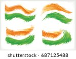 different pattern of a tricolor ... | Shutterstock .eps vector #687125488