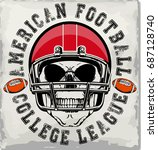 football sport typography  t... | Shutterstock .eps vector #687128740