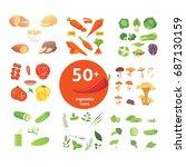 farming production  vegetables... | Shutterstock .eps vector #687130159