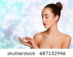 beauty woman. beautiful young.... | Shutterstock . vector #687132946