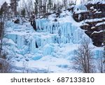 Beautiful Frozen Waterfall Eve...