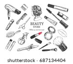 beauty store background  poster ... | Shutterstock .eps vector #687134404