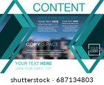 presentation layout design... | Shutterstock .eps vector #687134803