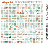 big vector set of infographic... | Shutterstock .eps vector #687137020
