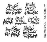 music quotes set. modern... | Shutterstock .eps vector #687138379