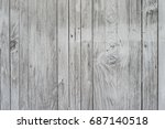 wood for gray background. | Shutterstock . vector #687140518