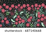 seamless folk border in small... | Shutterstock .eps vector #687140668