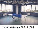 tennis table in the big room | Shutterstock . vector #687141589